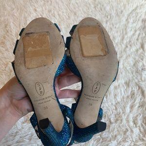 SJP by Sarah Jessica Parker Shoes - SJP Westminster Glitter Strappy Sandals Heels